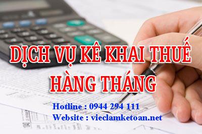 dịch vụ kê khai thuế hàng tháng giá rẻ tại đống đa