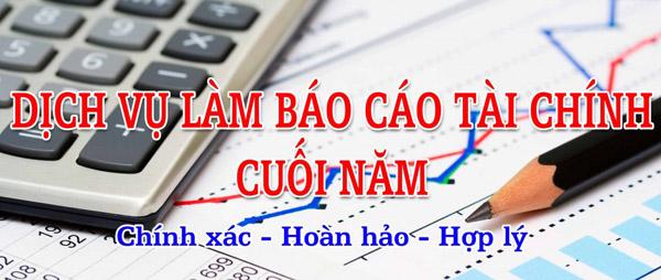 Dịch vụ báo cáo tài chính cuối năm tại Phú Yên