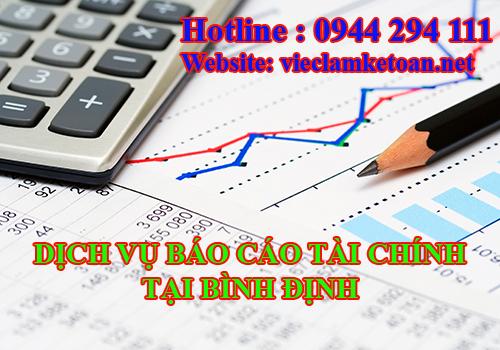 Nhận làm báo cáo tài chính tại Bình Định