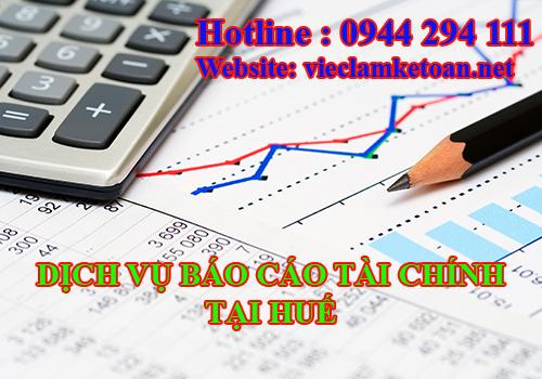 Dịch vụ báo cáo tài chính giá rẻ tại Huế