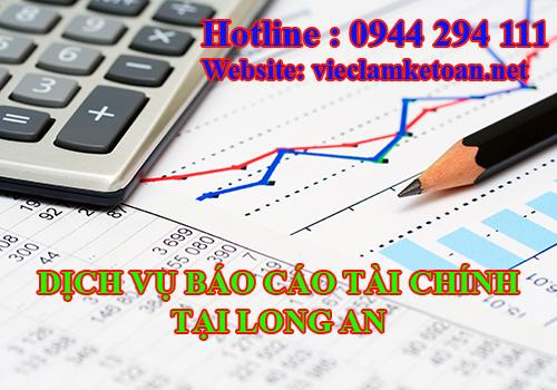Dịch vụ báo cáo tài chính tại Long An