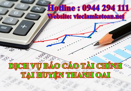 Dịch vụ báo cáo tài chính tại thanh oai