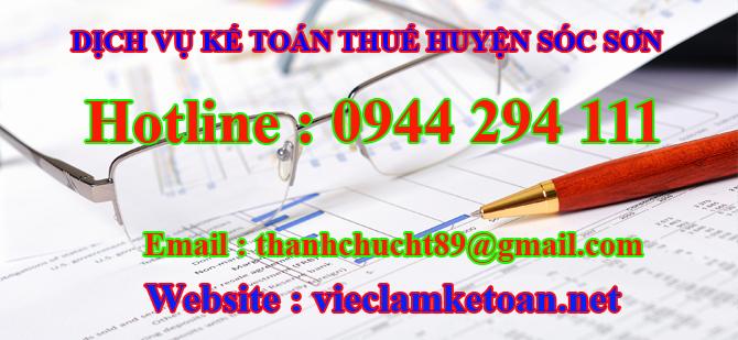 dịch vụ kế toán thuế tại sóc sơn
