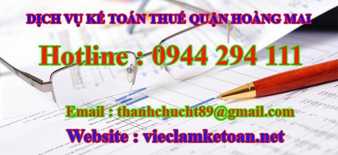 Dịch vụ kế toán thuế tại hoàng mai
