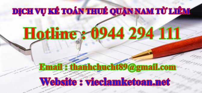 dịch vụ kế toán bán thời gian tại Nam Từ Liêm