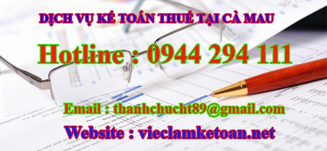 Dịch vụ kế toán thuế trọn gói tại Cà Mau