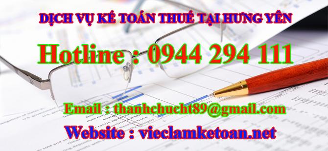 Dịch vụ kế toán thuế trọn gói tại hưng yên