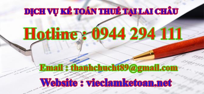 Dịch vụ kế toán thuế trọn gói tại Lai Châu