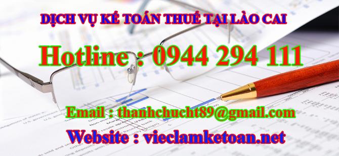 Dịch vụ kế toán thuế trọn gói giá rẻ lào cai