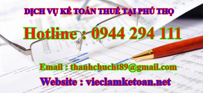 Dịch vụ kế toán thuế trọn gói tại phú thọ