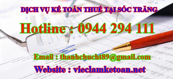 Dịch vụ kế toán thuế hàng tháng tại Sóc Trăng