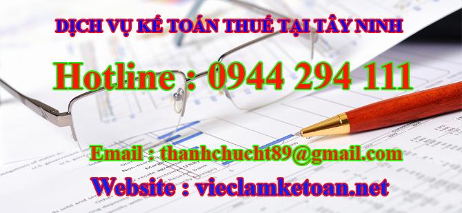 Dịch vụ kế toán thuế trọn gói tại Tây Ninh