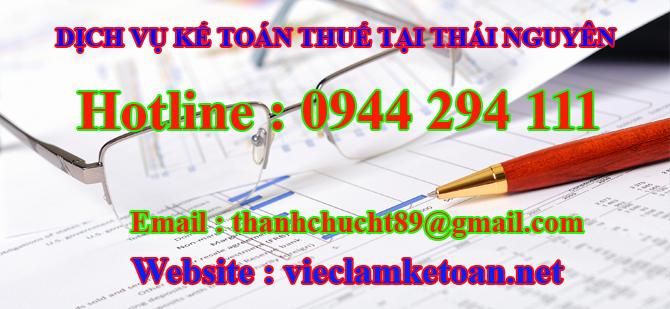 Dịch vụ kế toán thuế trọn gói tại thái nguyên