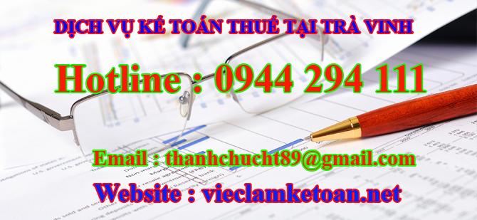 Dịch vụ kế toán thuế trọn gói tại Trà Vinh