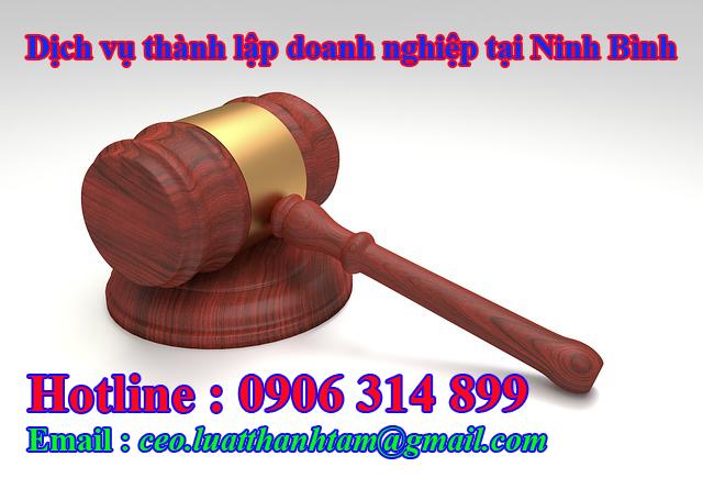 thành lập công ty nhanh chóng giá rẻ tại Ninh Bình
