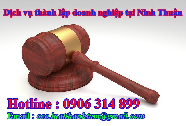 thành lập công ty nhanh chóng giá rẻ tại Ninh Thuận