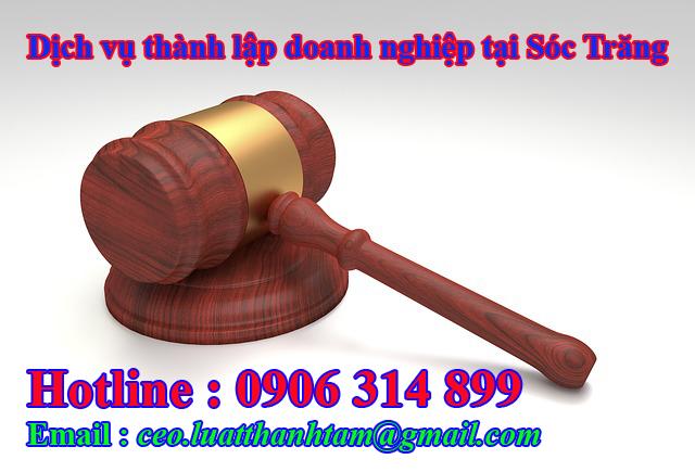 thành lập công ty nhanh chóng giá rẻ tại Sóc Trăng