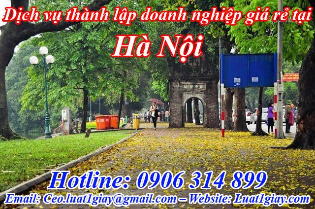 dịch vụ thành lập công ty giá rẻ nhất tại Hà Nội