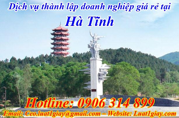 dịch vụ thành lập công ty giá rẻ nhất tại Hà Tĩnh