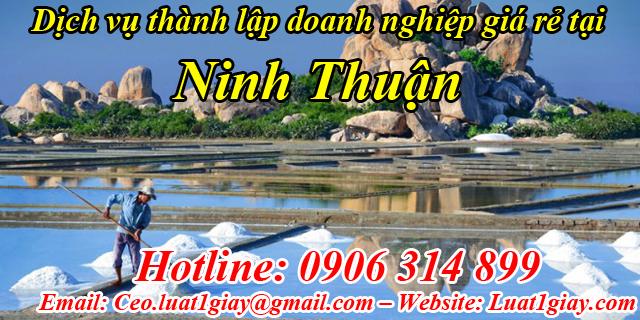 dịch vụ thành lập công ty giá rẻ nhất tại Ninh Thuận