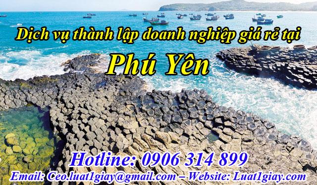 dịch vụ thành lập công ty giá rẻ nhất tại Phú Yên