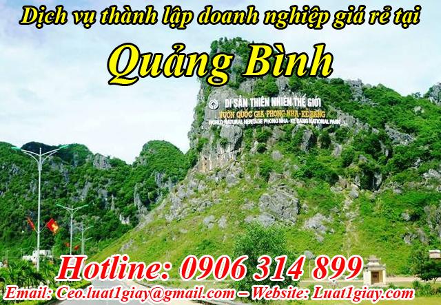 dịch vụ thành lập công ty giá rẻ nhất tại Quảng Bình