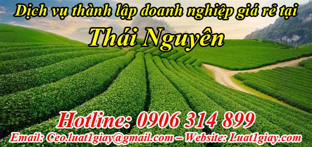 dịch vụ thành lập công ty giá rẻ nhất tại Thái Nguyên