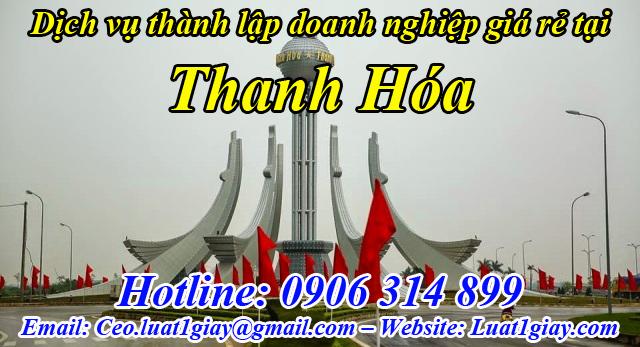 dịch vụ thành lập công ty giá rẻ nhất tại Thanh Hóa