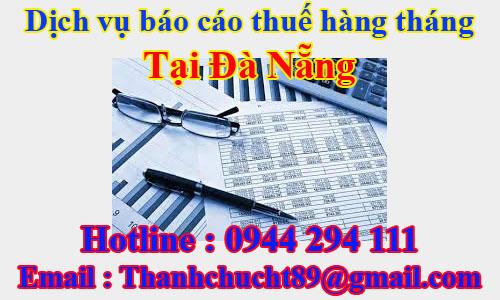 dịch vụ báo cáo thuế hàng tháng trọn gói giá rẻ tại đà nẵng
