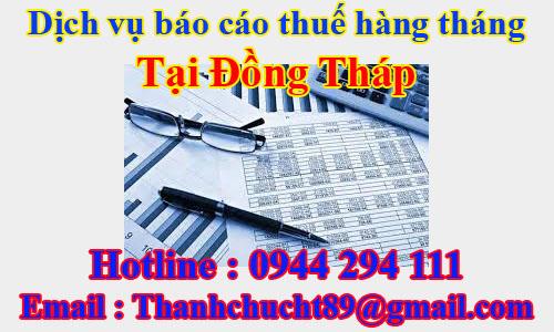 dịch vụ báo cáo thuế hàng tháng trọn gói giá rẻ tại đồng tháp