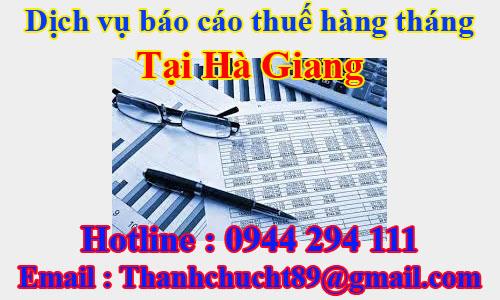 dịch vụ báo cáo thuế hàng tháng trọn gói giá rẻ tại hà giang