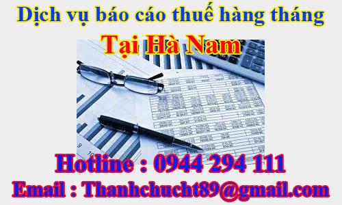 dịch vụ báo cáo thuế hàng tháng trọn gói giá rẻ tại hà nam