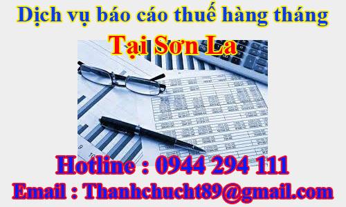 dịch vụ báo cáo thuế hàng tháng trọn gói giá rẻ tại sơn la