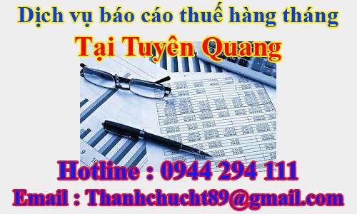 dịch vụ báo cáo thuế hàng tháng trọn gói giá rẻ tại tuyên quang