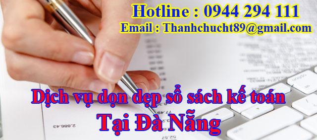 Dịch vụ dọn dẹp sổ sách kế toán trọn gói tại đà nẵng