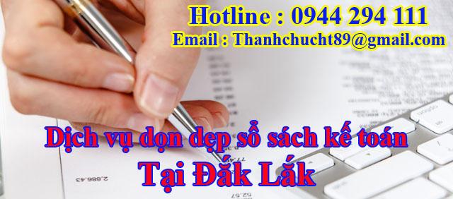 Dịch vụ dọn dẹp sổ sách kế toán trọn gói tại đắk lắk