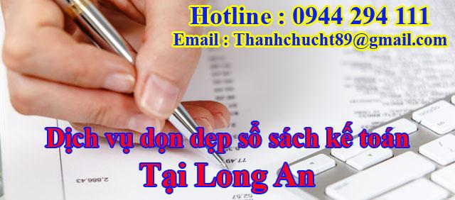 Dịch vụ dọn dẹp sổ sách kế toán trọn gói tại long an