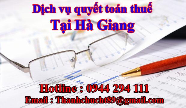 Dịch vụ quyết toán thuế trọn gói tại hà giang