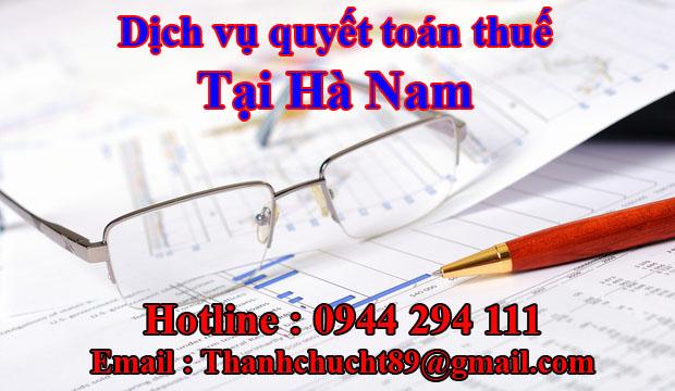 Dịch vụ quyết toán thuế trọn gói tại hà nam