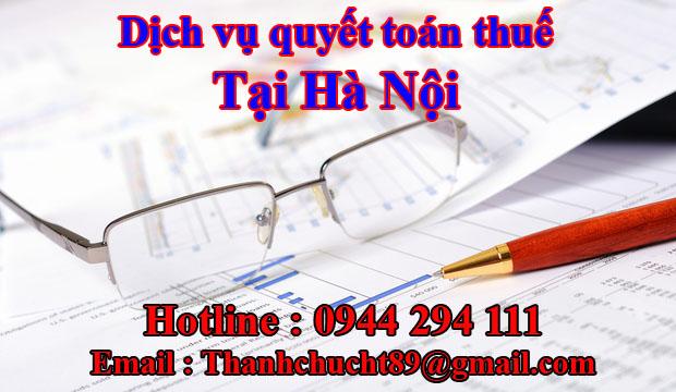 Dịch vụ quyết toán thuế trọn gói tại hà nội