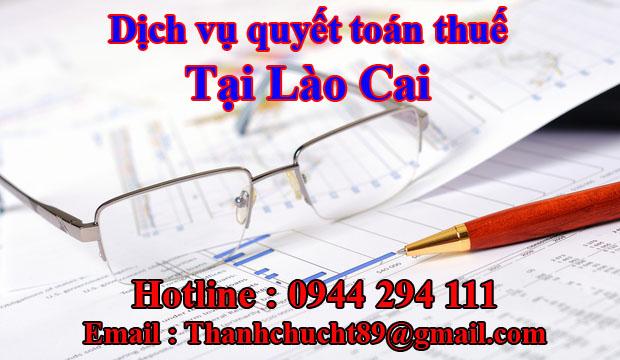 Dịch vụ quyết toán thuế trọn gói tại lào cai
