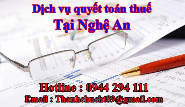 Dịch vụ quyết toán thuế trọn gói tại nghệ an