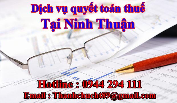 Dịch vụ quyết toán thuế trọn gói tại ninh thuận