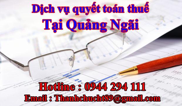 Dịch vụ quyết toán thuế trọn gói tại quảng ngãi