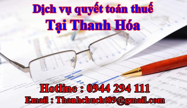 Dịch vụ quyết toán thuế trọn gói tại thanh hóa
