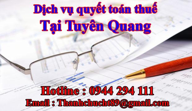Dịch vụ quyết toán thuế trọn gói tại tuyên quang