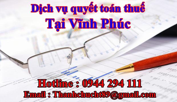 Dịch vụ quyết toán thuế trọn gói tại vĩnh phúc