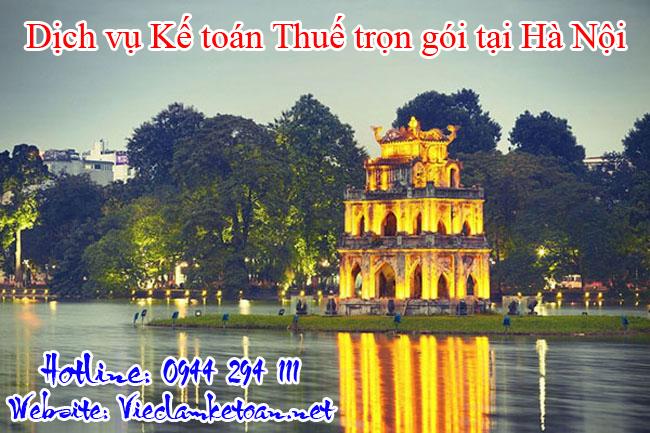 Dịch vụ kế toán thuế trọn gói tại Hà Nội giá rẻ