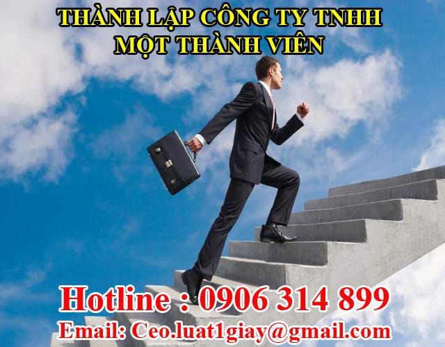 dịch vụ thành lập công ty tnhh 1 thành viên giá rẻ